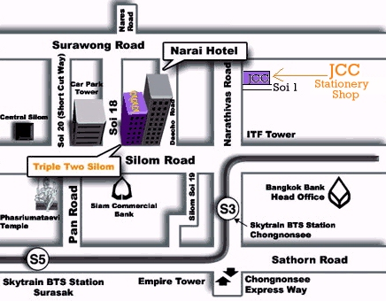 JCC stationery shop map