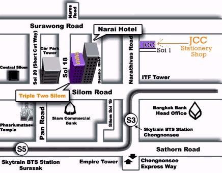 JCC stationery shop map