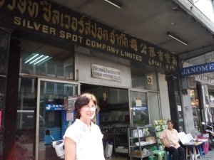 Here I am in front of the shop.