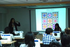 Quilt class at the Saha Group Export & Trade Exhibition