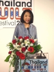 Pimpen Vejjajiva, wife of the Prime Minister of Thailand, opened the show.