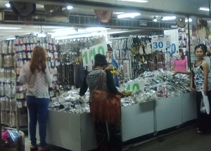 Ribbon Center has fashion belts, bags, hat displays, hair accessories, and jewelry.